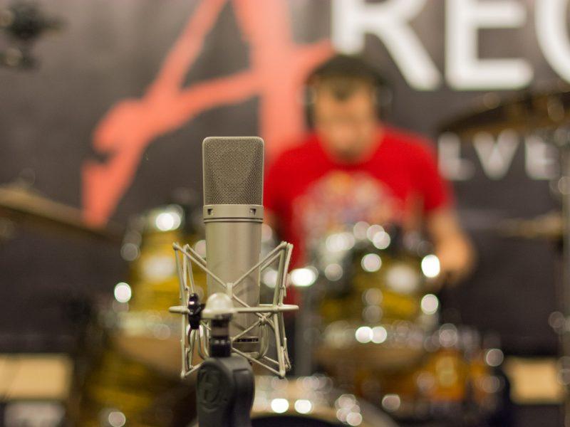 барабаны ударные звукозапись дома